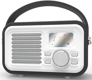 Bluetooth Speaker Vintage Surround Sound Outdoor Wireless Boombox Music Players