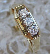 ☻WoW☻✨0,22 ct. Diamant Ring in aus 585 Gold mit Brillanten Brillant with Diamond