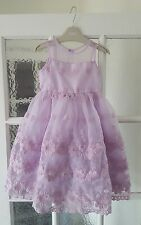 NEXT SP GIRLS AGE 2-3 years PRETTY LACE PURPLE LILAC FLOWER DRESS PARTY OCCASION
