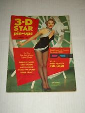 3-D STAR PIN-UPS Magazine Feb 1954 Marilyn Monroe Jane Powell Debbie Reynolds