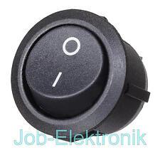Wippschalter 0-1 EIN/AUS 1-polig schwarz Schalter Kippschalter Netzschalter 230V