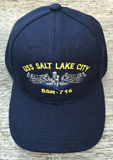 USS Salt Lake City SSN-716 Ball Cap Emb. Submarine Dolphins Navy Sub Veteran Hat