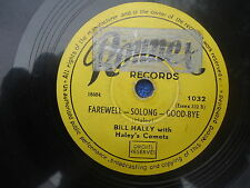 +BILL HALEY with HALEY'S COMETS 78 rpm RONNEX  LIVE IT UP! FAREWELL-SOLONG-GOODB