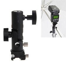Flash Hot shoe Umbrella Holder Swivel Bracket Mount Light Stand Type E fr Camera