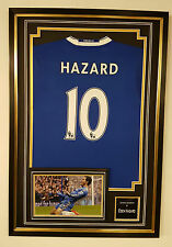 EDEN HAZARD of Chelsea Signed Photo Picture and Shirt AUTOGRAPH Display ***