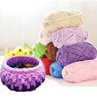 AU_ Soft Clothes T-Shirt Yarn Elastic Knitting Fabric for Bags Cushion DIY