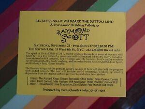 vtg 1980s art show music postcard / flyer - NYC East Village Ruscha Vox Populi
