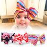 Baby Girl Cotton Big Bow Tie Head Wrap Turban Top Knot Headband Gifts