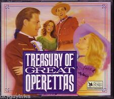 READER'S DIGEST Music TREASURY OF GREAT OPERETTAS Rare 1994 3 CD Set w/Booklet