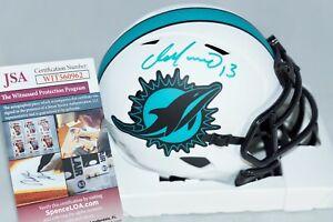 DAN MARINO #13 SIgned Miami Dolphins LUNAR Mini Helmet + JSA Witness COA WIT0962