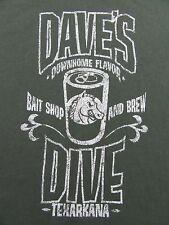 "DAVE'S DIVE Texarkana ""Baitshop & Brew"" Vacation Tourist T Shirt Size S"