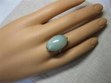 Jadeite Jade Platinum Ring Antique Art Deco Edwardian Wedding Engagement