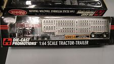 DCP #31812 O/O PETE 379 semi cab sleeper truck with wilson cattle trailer 1:64/
