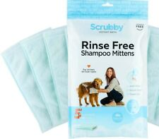 Scrubby Instant Bath Rinse Free Reusable Bath Mittens for Pets (5 in pkg.)
