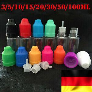 5-100ml Empty Dropper Bottle Tropfflaschen Liquidflaschen Leerflaschen PLA