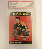1965 Topps #98 Ted Green Bruins PSA 7 (MC)