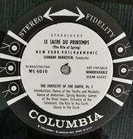 COLUMBIA STEREO MS 6010 *6-EYE DEMO* STRAVINSKY RITE OF SPRING *BERNSTEIN* EX/NM