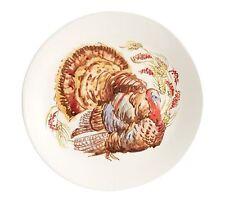 Pottery Barn Thanksgiving Pheasant Watercolor Turkey Salad plates S/4 Gift