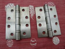"PAIR OF 4"" stainless steel hinges in used condition"