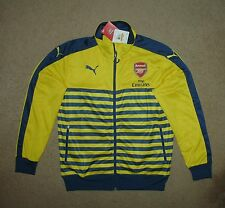 Puma Arsenal Anthem soccer jacket New Small Nwt tags Yellow/Blue $85
