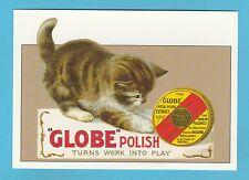 ADVERTISING  POSTCARD  -  ROBERT  OPIE  -  GLOBE  POLISH   ( B )