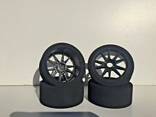 1/8 Buggy FOAM Tires Glued 17mm (BKS)