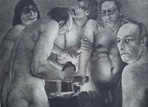 JOHANNES GRÜTZKE Schablithografie handsigniert 48/100 Neue Prächtigkeit, Schmied