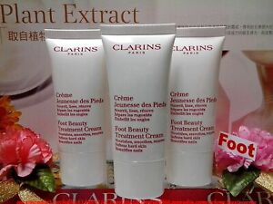"""CLARINS Foot Beauty Treatment Cream ◆50MLX3◆ Beautifies Nails """"SEALED NEW SALE!"""