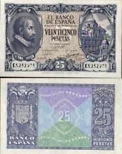 Año 1940. 25 Pesetas. Madrid. 9 de Enero. Juan de Herrera. Serie C. Nº 5.232.973