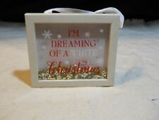 """New listing Shadow Box Wall Décor ~ """"I'm Dreaming of A White Christmas�"""