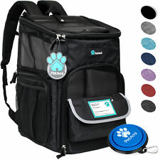 Pet Carrier Backpack for Small Cat Dog Puppy 4Way Entry Breathable Travel Hiking