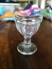 Antique Clear Glass Pedestal Unsigned Eye Wash Cup Eye Bath