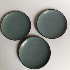 Heath Ceramics California Pottery 3 Dessert Plates Turquoise Speckled 6 1/4