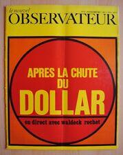 █ Le Nouvel Observateur n°175 Après la Chute du DOLLAR