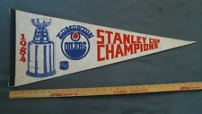 Edmonton Oilers 1984 Stanley Cup Champions Pennant Wayne Gretzky Mark Messier