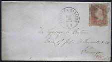 US Cover -  Fancy Cancel Grid on Civil War Era - Saratoga Springs NY 1865  S1149