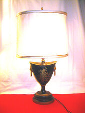 "MCM ERA WARREN KESSLER CLASSIC NEW YORK 26"" TOLE DECORATED URN FORM TABLE LAMP"