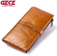 Women Long Genuine Leather Cowhide Wallet Bifold Credit Card Holder Clutch Purse