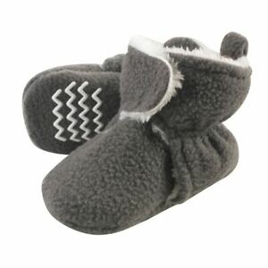 Hudson Baby Sherpa Lined Booties, Charcoal