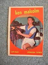 Vtg 60s A&BC Football Card No.33 Ken Malcolm Ipswich Town Black back Bubble gum