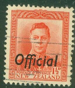 New Zealand. 1951. GVI. 1½d. Red. Official.  BOB. U.