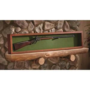 Gun Rifle or Sword Display Case Glass Storage Solid Wood Wall Mount