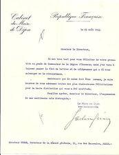 GASTON GERARD MAIRE DE DIJON PREMIER MINISTRE DU TOURISME FRANCAIS