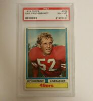 1974 Topps Football Card #352 Skip Vanderbundt PSA 8