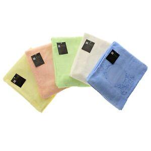 Asciugamani coordinati tinta unita da ricamare punto croce viso ospite tela aida