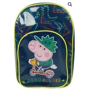 Official George Pig Dino Explorer Character Boys Kids Backpack Rucksack Bag