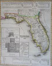 Florida, rare early map by Radefeld/Meyer, 1845, Florida