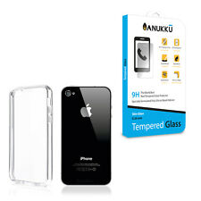 Custodia Cover Trasparente + Vetro Temperato Per Apple iPhone 4 4s