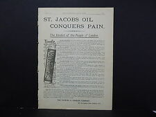 Illustrated London News Ads ONE Double-Sided Page c1888 S2#14 St. Jacobs Oil