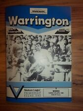 WARRINGTON v WIDNES  27/04/86  EXCELLENT